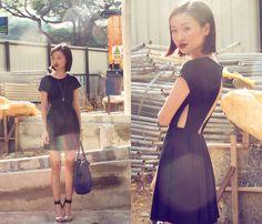 Feist Heist Bleek Dress, Jeffrey Campbell Soiree Silver Heels, M)Phosis Bag | Cut Outs (by Uli Chan) | LOOKBOOK.nu