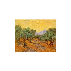 Sun over Olive Grove, 1889 Giclee Print Wall Art (78 AUD) ❤ liked on Polyvore featuring home, home decor, wall art, sun wall art and giclee wall art