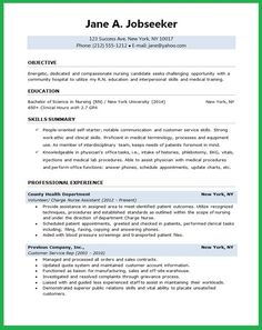 7 Best Nursing Resume Examples Images