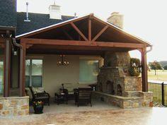 outdoor patio designs | the covered patio has a 20×20 cedar open ... - Covered Patio Ideas For Backyard