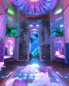 Ro vic sofrência (@RoViccino) / Twitter Aesthetic Space, Neon Aesthetic, Aesthetic Room Decor, Images Esthétiques, Neon Room, Fantasy Landscape, Retro Futurism, Dream Rooms, Cool Rooms