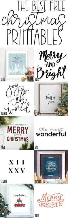 Best Free Christmas Prints Holiday Decor I've rounded up the 10 best free Christmas prints for you; these will make a great (and affordable) addition to your holiday décor! Christmas Signs, Christmas Projects, Winter Christmas, All Things Christmas, Holiday Crafts, Holiday Fun, Christmas Holidays, Christmas Decorations, Christmas Canvas