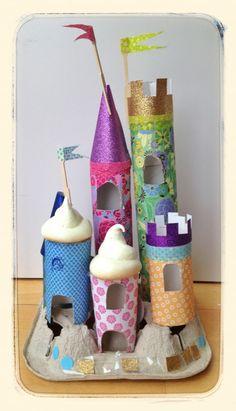 Para los niños siempre nos faltan ideas lindas y esta está super padre, paper tube castles