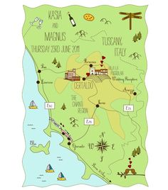 Great option for personalized wedding maps!
