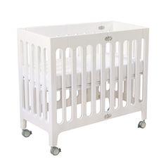 small crib for small nurseries. alma urban crib.