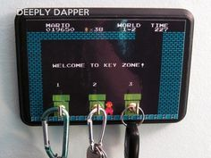 Super Mario Brothers Inspired Three Hook Key Holder - Welcome To Warp Zone - Pipes. $14.00, via Etsy.