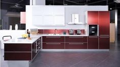 Innovation, high quality and costumer satisfaction –These are the three cooperate objective has driven the success of Fancycoral kitchens...  Tel # 0361780160, 01126359380 Email: info@fancycoral.com.   Website: www.fancycoral.com Aluminium Kitchen, Interior Trend, Shelves, Interior, House Front, Kitchen Cabinets, Home Decor, House Front Design, Kitchen Design