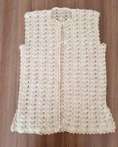 Tığ İşi Gelin Yeleği Yapılışı Açıklamalı | Yeni Hobi Punch Needle, Baby Knitting Patterns, Crochet Scarves, Lace Shorts, Diy And Crafts, Embroidery, Womens Fashion, Dresses, Waistcoat Designs