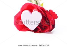 Valentines Day heart in silver box and greeting card isolated on white