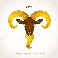 Vector Illustration Of Goat, Symbol Of 2015. Head Of Goat, Decorated.. Royalty Free Cliparts, Vectors, And Stock Illustration. Image 29779260.