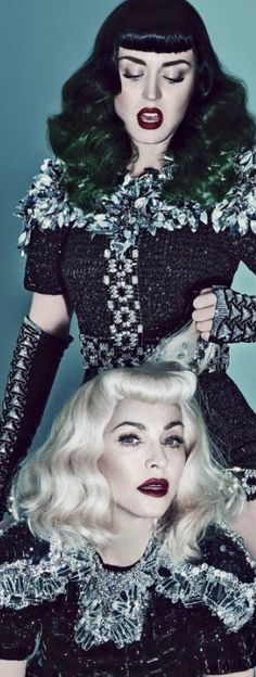 V Magazine shot by Steven Klein, featuring Madonna and Katy Perry.
