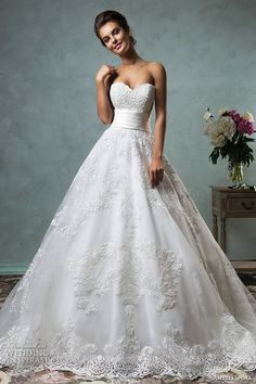 amelia sposa 2016 wedding dresses strapless sweetheart neckline embroideried stunning a line ball gown wedding dress arcellia