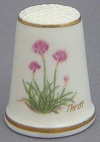 Royal Grafton Thimble - Flowers of the Poets Collection - Thrift