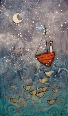 Moon Fishing by Julia Crossland