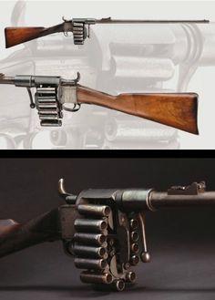 totalharmonycycle:  Treeby Chain Rifle circa 1855