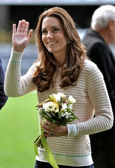 Pin for Later: The Duchess of Cambridge Didn't Wear a Single Bad Outfit This Year A Cosy Knit From Designer Jonathan Saunders Was the Perfect Sporty-Chic Topper