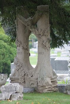 Double tree trunk monument . . .