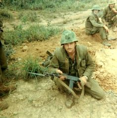 A soldier in Vietnam this has to do with my book because it is War