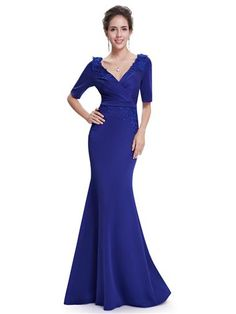 Long Sleeve Embroidered Evening Dress - Ever-Pretty US Winter Formal Dresses 70488a808f32