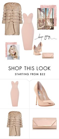 """""""Pinkie promise"""" by erlafashionarchitect ❤ liked on Polyvore featuring Christian Siriano, Dune, AINEA, Dorothy Perkins, Rothko, Pink, rosegold, fur and fauxfur"""
