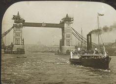 Under construction: A rare snap of Tower Bridge in London as it was being built. Although it looks medieval, the bridge is actually Victorian and opened in Victorian London, Vintage London, Old London, Victorian Era, London History, British History, London Life, London Street, Baker Street