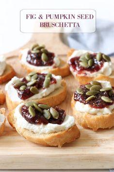 Fig and Pumpkin Seed Bruschetta-Easy Fall Appetizer
