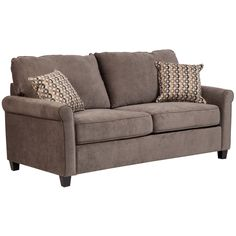 Porter Serena Warm Full Sleeper Sofa with Woven Accent Pillows