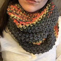 Tri Color Bulky Infinity Scarf by KnoticalKnitting on Etsy