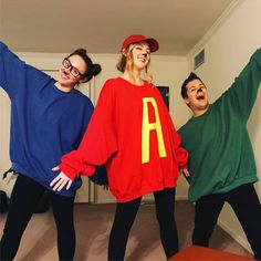 Inspiration & Accessories: DIY Alvin and the Chipmunks Halloween Group Costume I. Inspiration & Accessories: DIY Alvin and the Chipmunks Halloween Group Costume I. Cute Group Halloween Costumes, Easy Diy Costumes, Homemade Halloween Costumes, Last Minute Halloween Costumes, Group Costumes, Halloween Outfits, Costume Ideas, Zombie Costumes, Halloween Couples