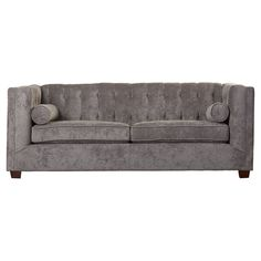 Sofa In Contemporary Design And Tufted Sofa Back With Wooden Frame And Removable Seat Cushions With Tufting Buttons plus FREE GIFT (Charcoal) Eclectic Living Room, Living Room Designs, Leather Reclining Sofa, Curved Sofa, Large Sofa, Shop Interiors, Best Sofa, Modern Sofa, Seat Cushions