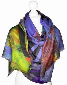 Irish Design, Vibrant Colors, Colours, Scarf Design, Cashmere Scarf, Wearable Art, 30th, Scarves, Product Launch
