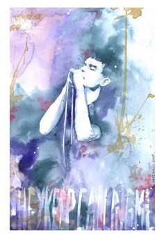 Dead Souls by Mary Chan #iancurtis #watercolor #portraits