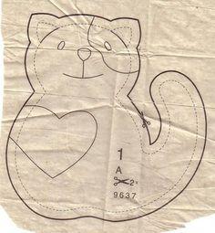 Molde almofada Gato