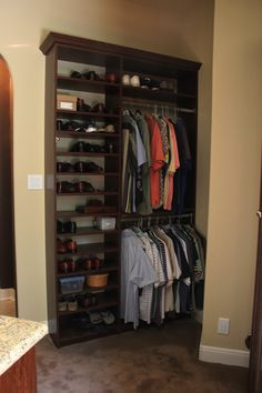 Maximize closet space with a custom system