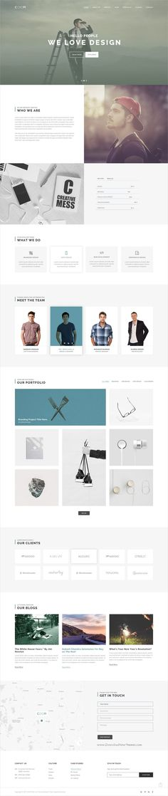 Coor is a modern and creative design #PSD template for #onepage #corporate business websites download now➩ https://themeforest.net/item/coor-creative-one-page-psd-template/19383382?ref=Datasata