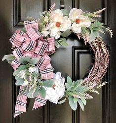 Designer MAGNOLIA Wreath FRONT Door WREATHS Spring Summer