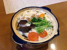 美味しかった( ´ ▽ ` )ノ - 4件のもぐもぐ - 鍋焼きうどん by narunaruru