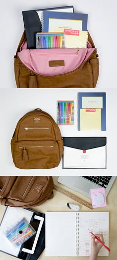 """Students, gear up for school in one simple step! Our all-inclusive School Collection has you covered with our hottest school supplies! This smart set includes the Monopoly Leather Backpack, Second Document Pouch, Better Together Lined Notebook, Large Round Pocket Sticker, & Vivid Pen Set. With these useful tools, you can write & color-code your notes & study plans, ace any homework, organize your papers, & carry a 13"""" laptop! Get high school, college, or office ready with this genius…"""
