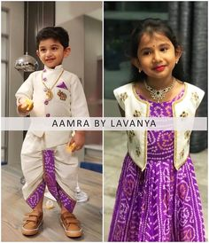 Fashion Kids Boy Daughters Ideas For 2019 Kids Indian Wear, Kids Ethnic Wear, Baby Boy Ethnic Wear, Boho Baby, Frocks For Girls, Dresses Kids Girl, Kids Outfits, Mom And Baby Dresses, Frock Design