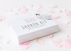 Lovely White Printed USB Gift Boxes from USB2U - ideal for wedding…