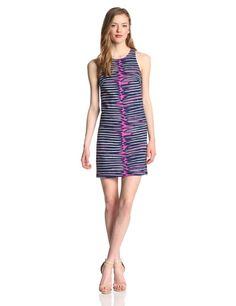 The Loma is a sexy sleeveless dress in an abstract jungle stripe print made up in a textured cotton fabrication. #Fashion  #Amazon