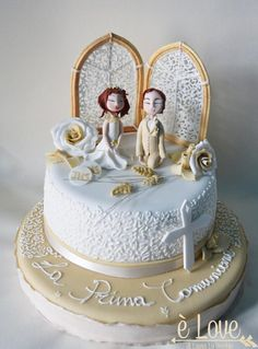 La prima comunione, First Communion - Cake by Laura