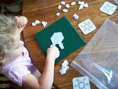 Shape patterning snowflake