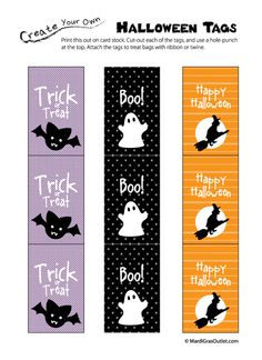 halloween gift or favor tags free printable pdf file - Free Printables For Halloween