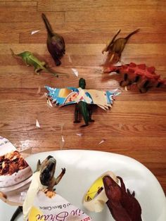"""Parents bring children's toys to life for """"Dinovember"""""""