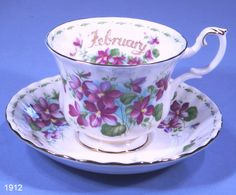 february tea cups | Royal Albert 'February' Bone China Tea Cup and Saucer – SOLD new ...