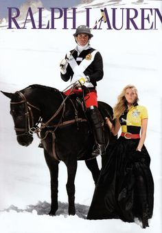Fun and fabulous clothing on this photo shoot.  Picture Will & Kate...oh will have to place Little Prince on top of the horse with Daddy though instead of the polo stick!