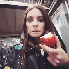 Eating an apple (from my tree!) to embrace Eurovision spirit by francesca_michielin #Eurovision #Eurovision2016