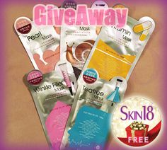 Skin18 International Giveaway x5pcs L'affair Mask for Special Moisturizing  - Free Facial Masks, Many Entries, Free Shipping Worldwide!! http://skin18.com/pages/giveawayd