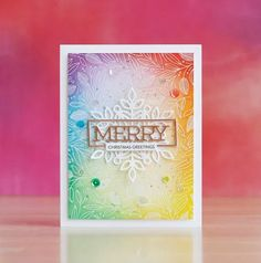 SSS-Leaves & Berries Background, Merry Frame, Marie Snowflake : Challenge Me a Christmas Card – laurafadora; Snowflake Cards, Christmas Snowflakes, Christmas Tag, Handmade Christmas, Christmas 2019, Snowflake Background, Background Ideas, Simple Christmas, Xmas Cards